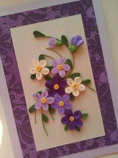 Quilling: Tips, Step by Step + Beautiful Ideas to Make - Flores Quilling Birthday Cards, Paper Quilling Cards, Paper Quilling Flowers, Paper Quilling Patterns, Paper Quilling Jewelry, Quilled Paper Art, Quilled Roses, Neli Quilling, Quilling Craft
