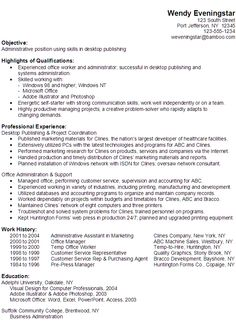 images about resume on pinterest   administrative assistant    functional resume example  administrative position