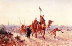 Caravane revenant de la Mecque Felix-Francois-Georges-Philbert Ziem - 1856