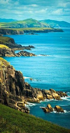 Seascape in Dingle, Ireland.