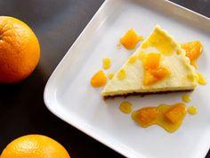 Tarte à la ricotta et au caramel à l'orange #dessert
