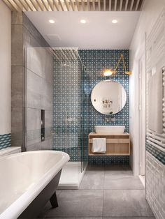 Amazing bathroom idea  / Un baño precioso y moderno - Casa Haus Decoracion