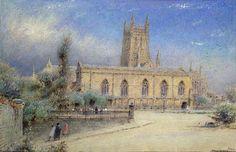 La cathédrale de Worcester de Albert Goodwin (1845-1932, United Kingdom)