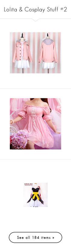 """Lolita & Cosplay Stuff #2"" by inugirl-ff ❤ liked on Polyvore featuring skirts, vintage skirts, pink skirt, animal print skirts, dresses, chiffon ruffle dress, ruffle dress, pink short sleeve dress, short dresses and pink chiffon dress"