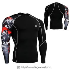 #FIXGEAR #Compression Base Layer Shirts, model no CP-B30, Grapnic Printing Compression Shirts for #MMA is manufactured by FG Creative. 5% Discount sales and Worldwide FreeShipping at www.fixgearmall.com #Jujitsu #muaythai #tshirts #GYM #Training #Undershirts #Skintights #Sportswear #Tracksuit #mensfashion #menswear