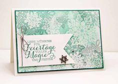 Weihnachtskarten Stampin Up Flockenzauber Stempelset