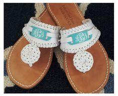 tinytulip.com - Monogrammed  Leather Sandals