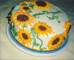 Unique Sunflower Cakes Decorations Cakes Ideas November 2016