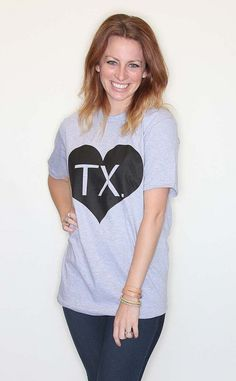 Riffraff exclusive, these copyrighted tees are the perfect way to show your state love for Texas! $32