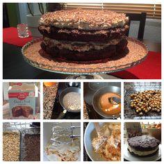 Hazelnut Crunch Cake with Mascarpone and Chocolate