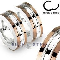 PIN IT TO WIN IT! Caffeine: Caffeine - it is refreshing! Take a break with these stainless steel 2 tone hoop earrings with coffee IP edges. Kick back and enjoy your life of leisure.  $19.99  www.buybluesteel.com