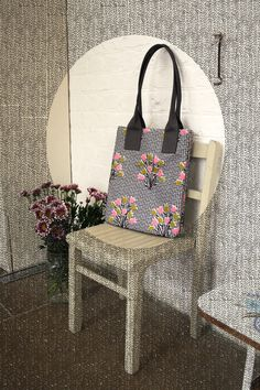 Betty & Walter | Floral magazine bag designed by Lisa Levis (nee Stickley). Royal Fudge is a tidy necessity for Betty & Walter! | Magazine Bag