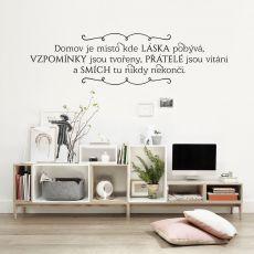 HOUSEDECOR.CZ - SAMOLEPKY NA ZEĎ - Texty a citáty - Domov je místo ...
