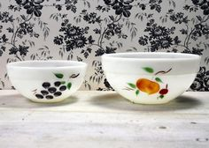 Vintage Mixing Bowls Fire King Milk Glass by myvintagenewengland, $18.00