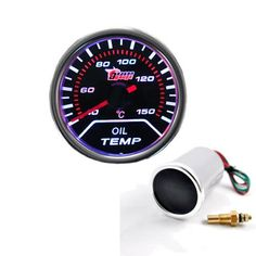 52mm Digital Wide band Oil Temp gauge  Product Description:  * Brand New * OIL TEMPRETURE GAUGE * Color: Silver * LCD size: 52mm