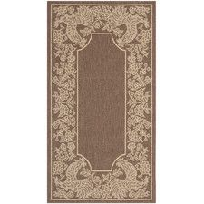 Courtyard Chocolate/Natural Rug