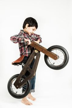 Treat your aspiring cyclist to a handmade balance bike.