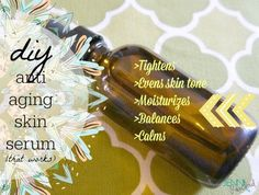Anti-Aging Serum that works!  Made with cypress, geranium, and frankincense essential oils.