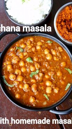 chana masala recipe, chickpea masala, chana curry, chana masala curry with step by step photo/video. tasty north indian curry with chickpea & spices. Puri Recipes, Paratha Recipes, Paneer Recipes, Spicy Recipes, Cooking Recipes, Vegetarian Recipes, Indian Veg Recipes, Indian Dessert Recipes, Punjabi Recipes