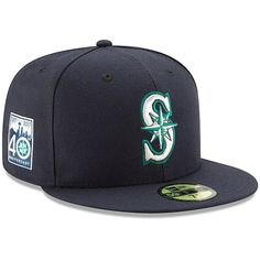sports shoes 05623 e9c99 Men s Seattle Mariners New Era Navy 40th Anniversary Authentic Collection  On-Field 59FIFTY Fitted Hat