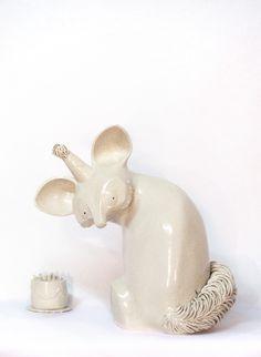 "Sculpture, unique, ceramics, art, animals, hand built. "" Birthday"" by Aura Kajas 2016."