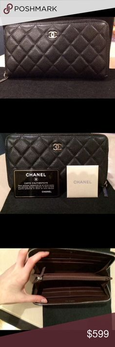 39ede4239216c1 Brand New Chanel Grained Calfskin Zip Wallet **DO NOT BUY WITHOUT  CONTACTING ME*