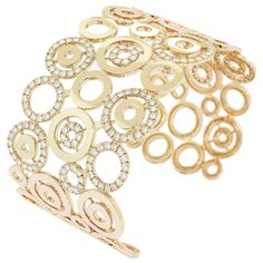 GABRIELLE'S AMAZING FANTASY CLOSET | Diamond Gold Circle Cuff Bracelet | You can see the Rest of the Outfit and my Remarks on this board.  -  Gabrielle