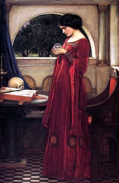 Crystal ball, by Waterhouse