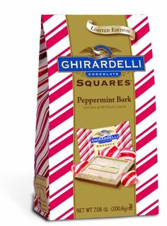 Ghirardelli Chocolate Squares, Peppermint Bark, 7.06-ounce Packages (Pack of 4 Ghirardelli)