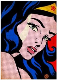 Pop Art of Wonder Woman by Roy Lichtenstein