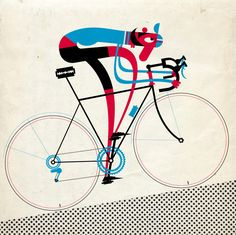 Retro cycling illustration