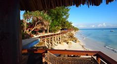 View from upper beach #BeachResort #Indian Ocean #Sunbeds #Massage #Sailing #Nature #Couples #Nungwi # Zanzibar
