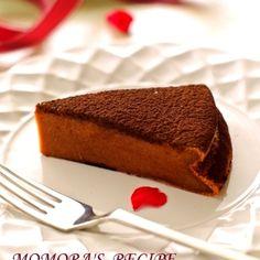 ホットケーキミックスHMで簡単お菓子♪バター・生クリームなしでシットリ濃厚♡豆腐ガトーショコラ♡バレンタインに