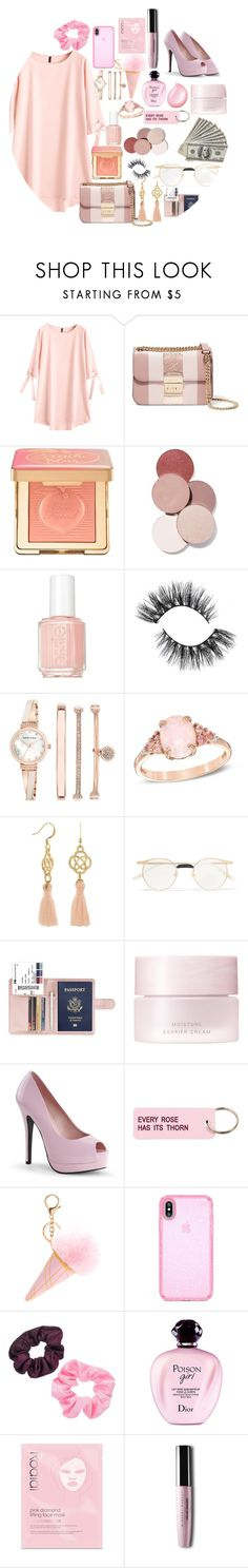 """""""Untitled #30"""" by julisaiglecias13 ❤ liked on Polyvore featuring MICHAEL Michael Kors, Too Faced Cosmetics, LunatiCK Cosmetic Labs, Essie, Anne Klein, Gucci, SUQQU, Various Projects, Speck and Mudd"""