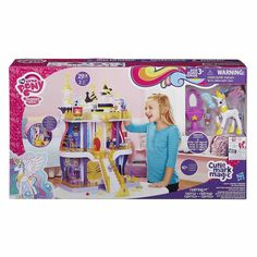My Little Pony Cutie Mark Magic Canterlot Castle Playset There's a party for every pony at the Canterlot Castle playset! Your Princess Celestia and Spike the All My Little Pony, My Little Pony Friendship, Diy Bookshelf Plans, All Disney Princesses, Unicorn Rooms, Princess Celestia, Toy R, Pencil Bags, Baby Alive