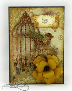 Steampunk birdcage by creativespell - Cards and Paper Crafts at Splitcoaststampers