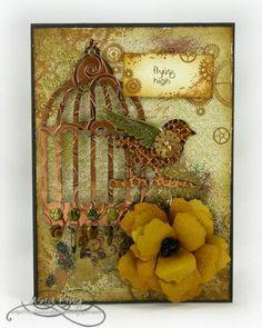 Steampunk birdcage card