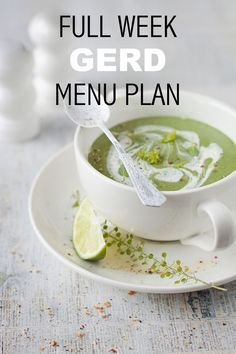 Free Menu Plan to deal with Gastro-oesophageal reflux (GERD) (Gerd Diet Recipes) Ulcer Diet, Bland Diet, Acid Reflux Recipes, Low Acid Recipes, Acid Reflux Diet Plan, Foods For Acid Reflux, Anti Reflux Diet, Stop Acid Reflux, Diets