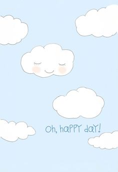 Childrens Wall Art  Cloud Art  Happy Art by RoseHillDesignStudio, $20.00