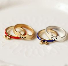 Free Shipping Cute Cat Bell Rings, 2 Sets