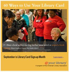 60 Ways to Use Your Library Card | @ Your Library #libraries #marketing #roi