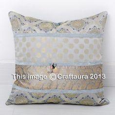 16-Indian-Cushion-Cover-Pillow-Case-Brocade-Silk-Ethnic-Throw-Decor-Art