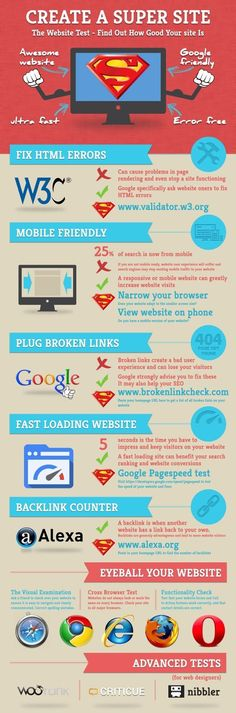 Create a super site! #website #design #infographic