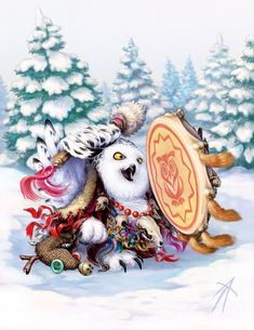 Owl Shaman by Vladimir Arzhevitin, artist Owl Pictures, Pictures To Draw, Spotted Owl, Owl Books, Paper Owls, Beautiful Owl, Wise Owl, Snowy Owl, Owl Art
