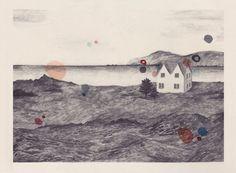 Icelandic Landscape print by LizzyStewart.etsy