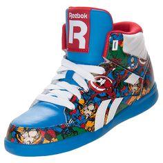 Reebok Marvel Multi Superhero shoes  http://www.finishline.com