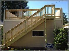Flat Roof w/deck Garages - Danleys Garage World