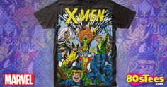 X-Men Group T-Shirt made by Impact Merchandising in collections: Super Heroes: X-Men, & Department: Adult Mens, & Color: Black Man Thing Marvel, Adulting, X Men, Cool Shirts, Shirt Designs, Group, Cool Stuff, Mens Tops, T Shirt