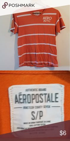Aeropostale Orange Striped Tshirt Good used condition Aeropostale Shirts Tees - Short Sleeve