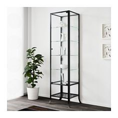 IKEA - KLINGSBO, Glass-door cabinet, With a glass-door cabinet, you can show off as well as protect your glassware or your favorite collection.The accompanying lock allows you to keep your belongings safe.